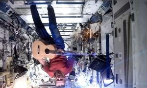 Astronaut On ISS Sings David Bowie's 'Space Oddity'