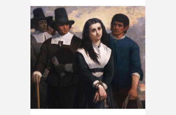 "Thomas Satterwhite Noble's ""The Salem Martyr."" (Public Domain)"