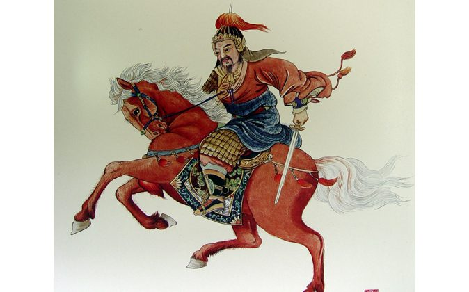 Wu Zixu, a key general and minister in the Warring States Period. (Wang Shuang-K'uan/Epoch Times)