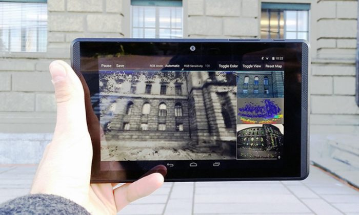 The Project Tango developer tablet used by the scientists. (Credit: Thomas Schöps/ETH Zurich)