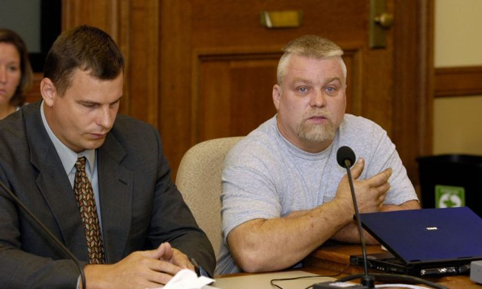 This image released by Netflix shows Steven Avery, right, in the Netflix original documentary series Making A Murderer.(Netflix via AP)