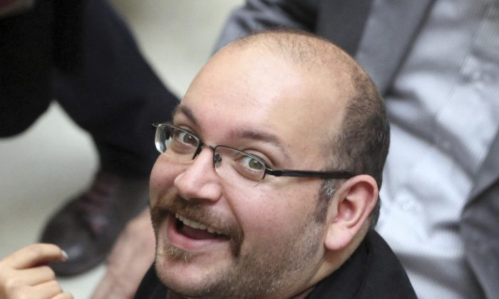 Jason Rezaian, an Iranian-American correspondent for the Washington Post, in a file photo,  April 11, 2013.  On Jan. 16, 2016, Rezaian was one of four dual-national prisoners freed by Iran's government and previously announced on Iranian state television without naming those released.  (AP Photo/Vahid Salemi, File)