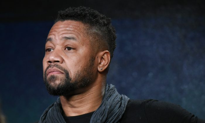 """Actor Cuba Gooding Jr. participates in """"The People v. O.J. Simpson"""" panel at the FX Networks Winter TCA in Pasadena, Calif., on Jan. 16, 2016. (Richard Shotwell/Invision/AP)"""