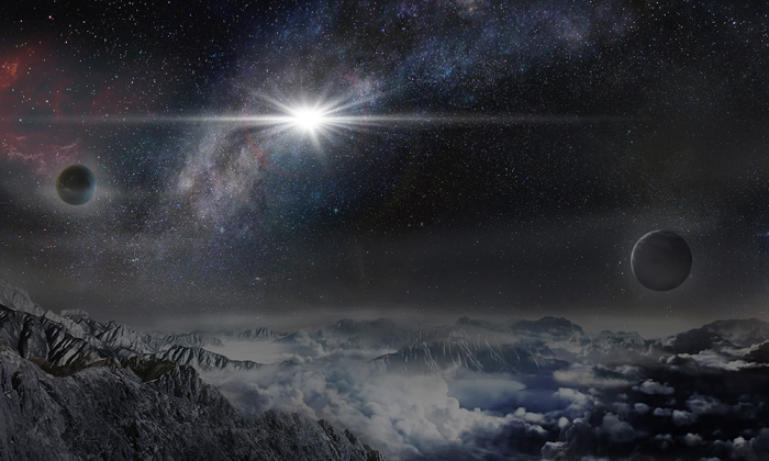 An artist's impression of the record-breakingly powerful, superluminous supernova ASASSN-15lh (Beijing Planetarium / Jin Ma)