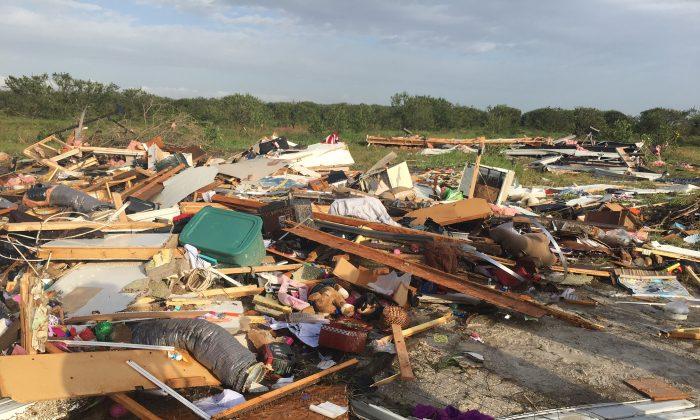 A tornado roared through Duette, Fla., early Sunday, Jan. 17, 2016. (Richard Dymond/Bradenton Herald via AP)