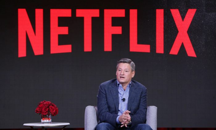 Netflix Chief Content Officer Ted Sarandos seen at Netflix 2016 Winter TCA on Sunday, January 17, 2016, in Pasadena, CA. (Eric Charbonneau/Invision for Netflix/AP Images)