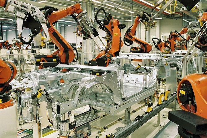 Vulnerable industrial control systems that run, build and monitor things are all around us. (BMW Werk Leipzig, CC BY-SA)