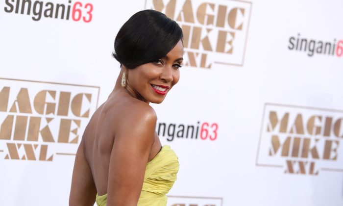 """In a Thursday, June 25, 2015 file photo, Jada Pinkett-Smith arrives at the Los Angeles premiere of """"Magic Mike XXL"""" at the TCL Chinese Theatre. Calls for a boycott of the Academy Awards are growing over the Oscars' second straight year of mostly white nominees, as Spike Lee and Jada Pinkett Smith each said Monday, Jan. 17, 2016, that they will not attend this year's ceremony. (Paul A. Hebert/Invision/AP, File)"""