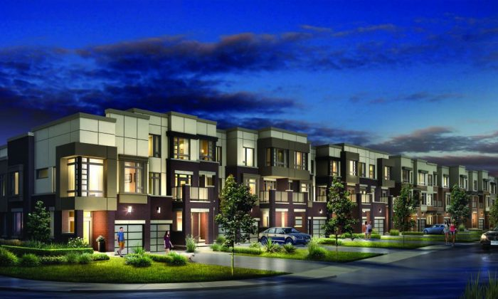 Rendering of Otto, a development of executive townhomes by CountryWide Homes in Thornhill, Ontario. (Courtesy of CountryWide Homes)