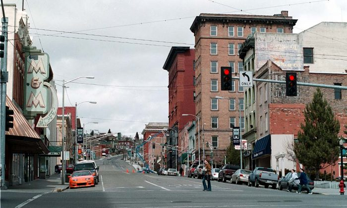 Uptown Butte, Montana, on April 24, 2006. (Public Domain)