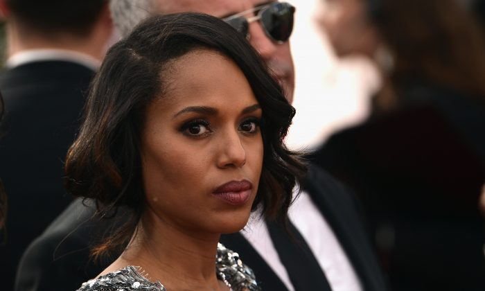 Actress Kerry Washington attends the 67th Annual Primetime Emmy Awards at Microsoft Theater on September 20, 2015 in Los Angeles, California. (Larry Busacca/Getty Images)
