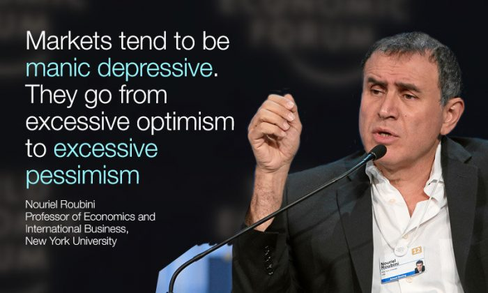 Nouriel Roubini speaks at the World Economic Forum annual meeting in Davos, Switzerland, Jan. 20, 2016 (World Economic Forum)