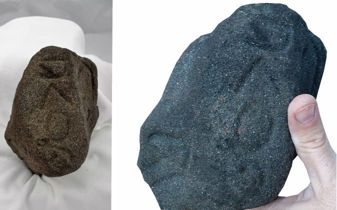 A basalt artifact found in Jackson County, Ga. (Courtesy of  Indigenous Peoples Research Foundation)