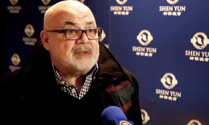Phil Backman after the Shen Yun Performing Arts performance at the Queen Elizabeth Theatre, on Jan. 22, 2016. (Courtesy of NTD Television)