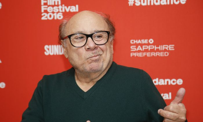 """Actor Danny DeVito poses at the premiere of """"Wiener-Dog"""" during the 2016 Sundance Film Festival on Friday, Jan. 22, 2016, in Park City, Utah. (Photo by Danny Moloshok/Invision/AP)"""