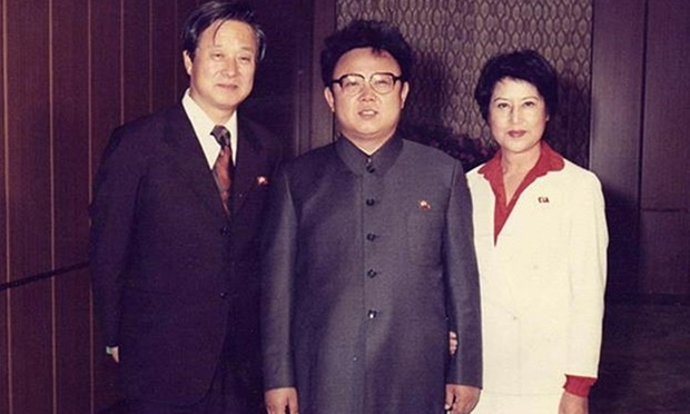 (L–R) South Korean movie star Shin Sang-ok, North Korean dictator Kim Jong-il, and South Korean leading lady Choi Eun-hee. (Tiger Lily Productions)