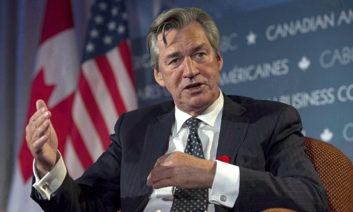 Canadian ambassador to the U.S. Gary Doer speaks at a business conference in Ottawa Nov. 6, 2014. Ottawa has fired off a pre-emptive strike ahead of a U.S. Senate committee hearing next week in which Canada's Syria refugee policy will be on the hot seat. THE CANADIAN PRESS/Justin Tang