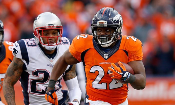 C.J. Anderson ran for 72 yards in Denver's win over New England in the AFC title game. (Ezra Shaw/Getty Images)