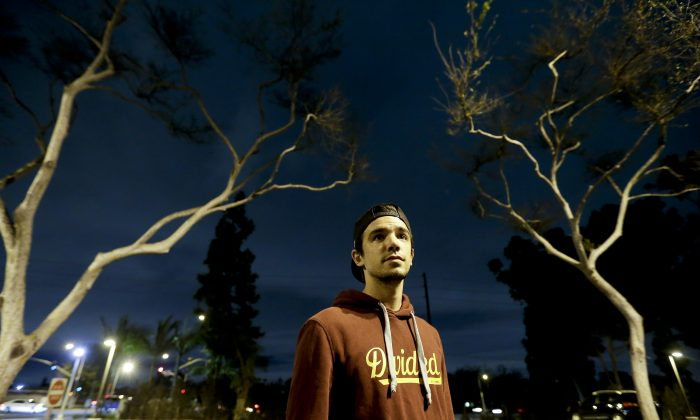 "College student Christopher Rael at California State University, in Long Beach, Calif., on Jan. 19, 2016. Millions of young adults healthy enough to think they don't need insurance face painful choices this year as sign-up deadline approaches for President Obama's health care law. With open enrollment over after Jan. 31, Rael is hoping his meager income will qualify him for Medi-Cal, the state's version of Medicaid. ""I cannot afford an additional bill,"" he said. He paid a fine of about $150 for being uninsured in 2014. (AP Photo/Chris Carlson)"