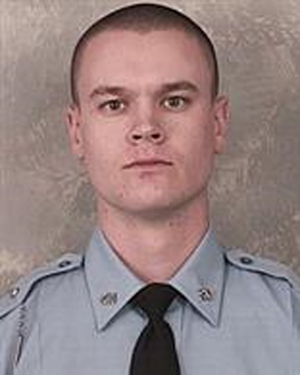 This photo released by the Georgia Department of Public Safety shows Trooper Jacob Fields. Fields and a driver who led him on a chase on a highway in suburban Atlanta both suffered gunshot wounds after exchanging fire Wednesday, Jan. 27, 2016, a Georgia State Patrol spokesman said. (Georgia Department of Public Safety via AP)