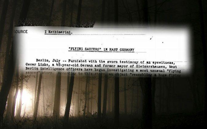 A declassified CIA document. (Public Domain) Background: (Glenneroo/iStock)