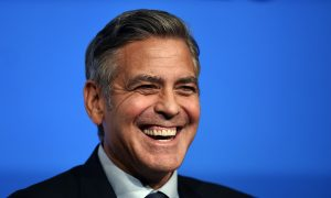 George Clooney Adopts a Rescue Dog With a Leg Defect