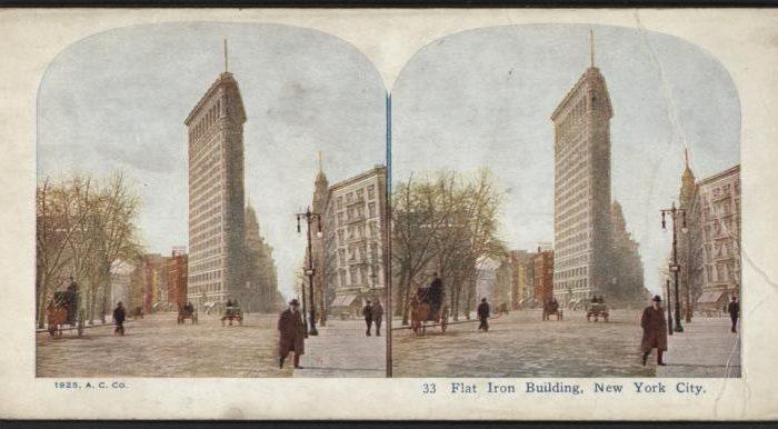 Flat Iron Building, New York City in 1925. (NYPL)