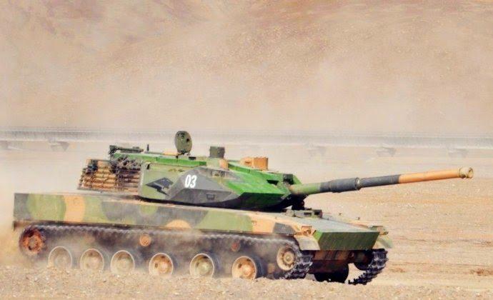 China's new ZTQ light tank in Tibet (Sina Military Network)