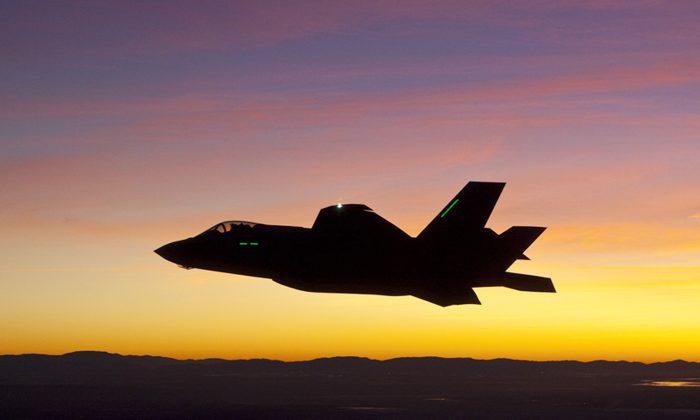 The F-35 Lightning II joint strike fighter near Edwards Air Force Base, Calif., Jan. 18, 2012. (Tom Reynolds/Lockheed Martin)