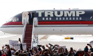 Watch Donald Trump's Airplane Do a Flyby to the Theme From 'Air Force One'