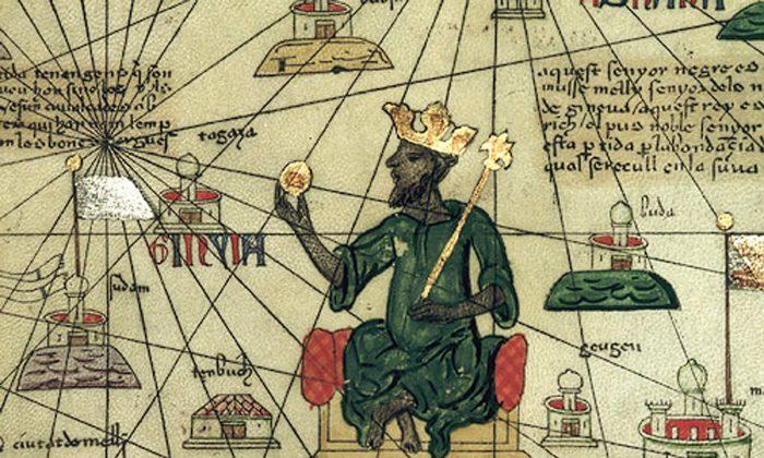 "Mansa Musa: richer than ""anyone can decribe."" (Abraham Cresques of Mallorca, Public Domain)"