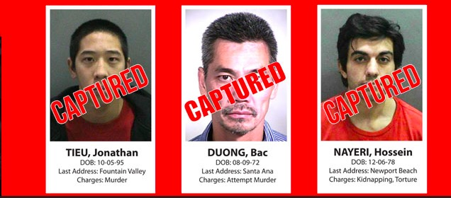 Orange County, Calif., Sheriff's Department notice on their website on Jan. 30, 2016, showing that all three jail inmates who escaped from the Central Men's Jail in Santa Ana, Calif., on Jan. 22 have been captured. (Orange County Sheriff's Department)