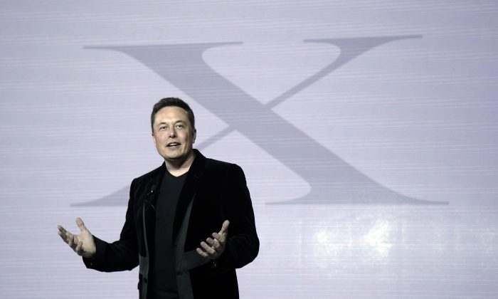 In a Tuesday, Sept. 29, 2015 file photo, Elon Musk, CEO of Tesla Motors Inc., at the company's headquarters, in Fremont, Calif. (AP Photo/Marcio Jose Sanchez)