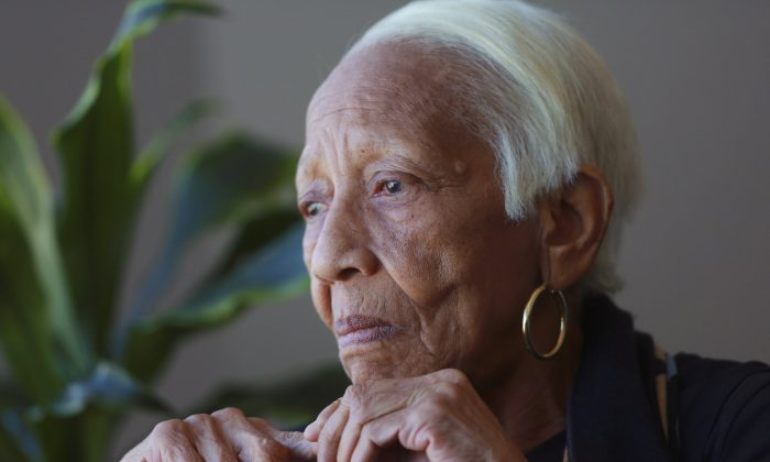 Jewel thief Doris Payne speaks during an interview in Atlanta on Jan. 11, 2016. The 85-year-old has managed to walk off with pricey jewels in countless thefts around the world for over six decades. (AP Photo/John Bazemore)