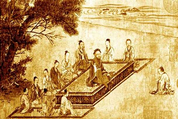 Confucius and his disciples. (Public Domain)