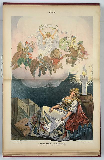 A peace dream of Eastertime by Keppler, 1899. (Library of Congress)