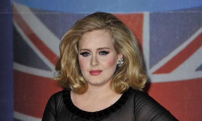 Adele attends The BRIT Awards 2012 at the O2 Arena on February 21, 2012 in London, England.  (Gareth Cattermole/Getty Images)