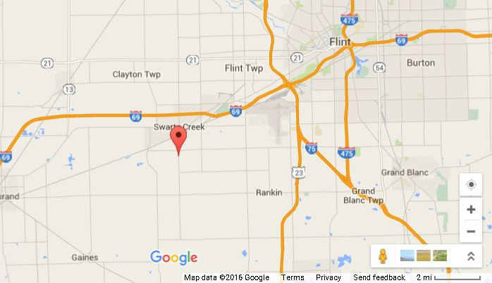 The fire was at a house off Morrish Road in Swartz Creek, Michigan. (Google Maps)