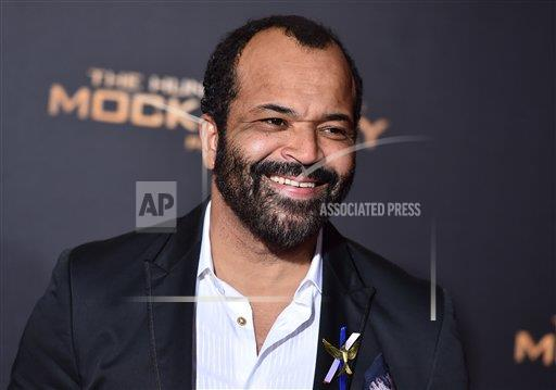 """Jeffrey Wright arrives at the Los Angeles premiere of """"The Hunger Games: Mockingjay - Part 2"""" at the Microsoft Theater on Monday, Nov. 16, 2015. (Jordan Strauss/Invision/AP)"""