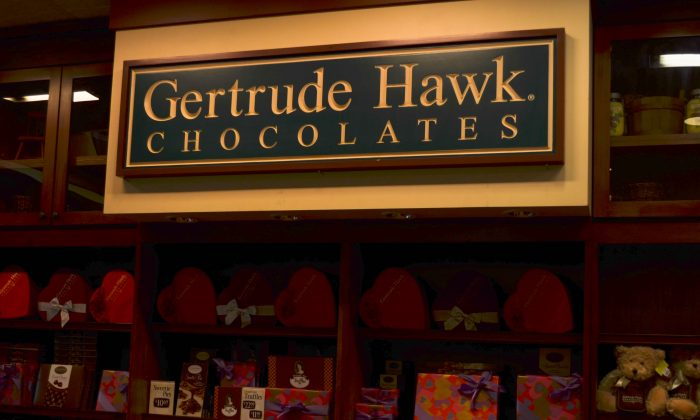 Gertrude Hawk Chocolates shop at Galleria Mall in Wallkill on Jan. 29, 2016. (Yvonne Marcotte/Epoch Times)