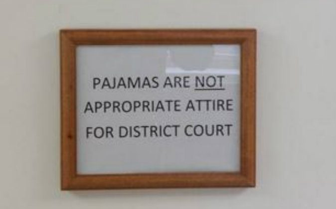 The sign that a Pennsylvania judge recently put in his courtroom. (Catawissa Borough Police Dept.)