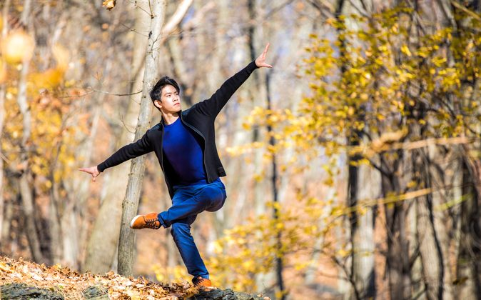 Acclaimed dancer Piotr Huang, from Poland, found new meaning to life in reviving traditional Chinese culture. (Samira Bouaou/Epoch Times)