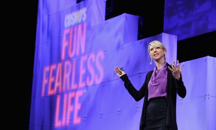 Amy Cuddy speaks onstage during Cosmopolitan Magazine's Fun Fearless Life Conference powered by WME Live at The David Koch Theatre at Lincoln Center on November 8, 2014 in New York City.  (Craig Barritt/Getty Images for Cosmopolitan Magazine and WME Live)