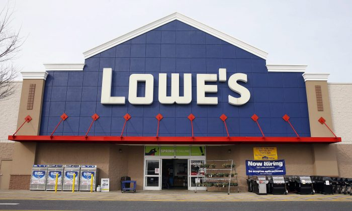 A Lowe's store in Philadelphia in this file photo. The Lowe's home improvement chain is buying Quebec-based Rona Inc. in a deal valued at $3.2 billion. (The Canadian Press/AP/Matt Rourke)