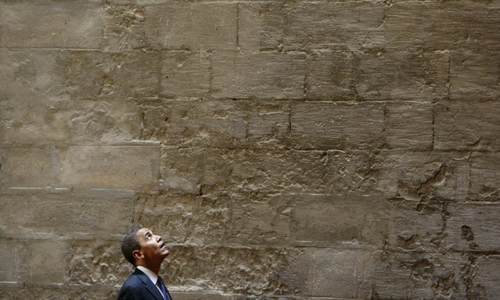 In this Thursday, June 4, 2009 file photo, U.S. President Barack Obama tours the Sultan Hassan Mosque in Cairo, Egypt. (AP Photo/Gerald Herbert)