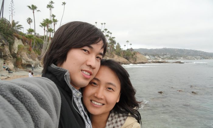 A selfie of Hung Thai and his fiancee Lina Jiang on a trip to Malibu, Calif., in April 2015. The Seattle couple have decided to go ahead with a destination wedding in Mexico despite headlines about the mosquito-borne Zika virus. But they're letting guests know that it's OK if they opt to stay home, and they're encouraging those who do plan to come to buy cancel-for-any-reason travel insurance. (Lina Jiang via AP)