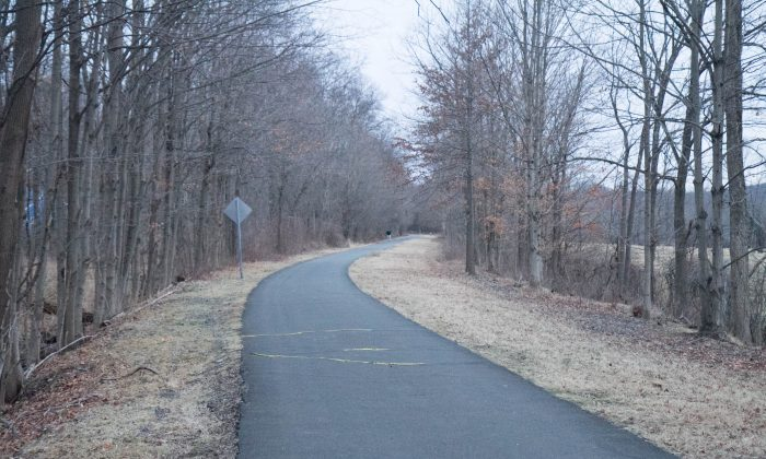 A section of the Heritage Trail in Goshen on Feb. 4, 2016. The trail is 11.5 miles long and is the second most widely used park in Orange County. (Holly Kellum/Epoch Times)