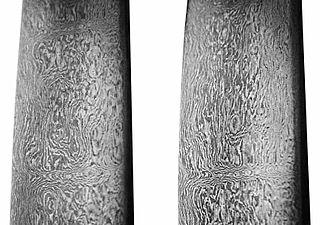 18th-century Persian-forged Damascus steel sword. (Rahil Alipour Ata Abadi)