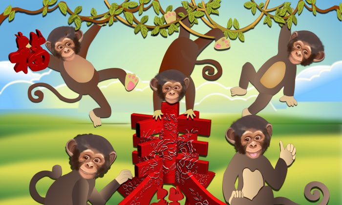 Happy and joyful Year of the Monkey! (Catherine Chang/Epoch Times)