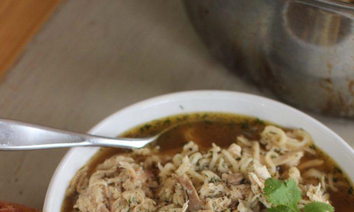 Chicken Ramen Noodle Soup. (AP Photo/Matthew Mead)